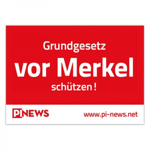 """Aufkleber """"Grundgesetz vor Merkel schützen"""""""