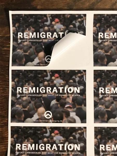 Aufkleber Remigration (6-er Bogen)