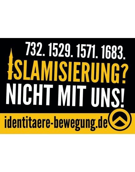 Aufkleber - Islamisierung (50 Stk.)