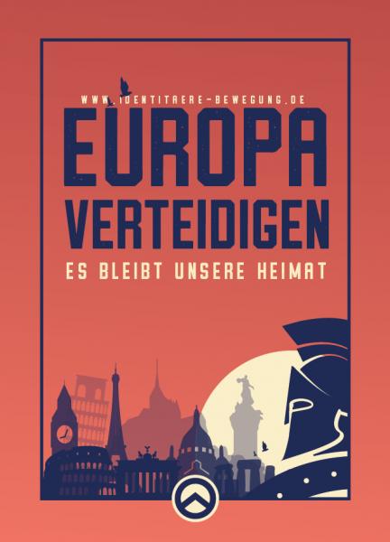 Aufkleber Europa verteidigen