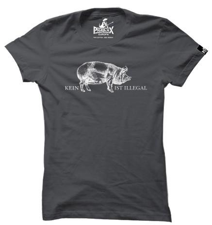 Damenshirt: Kein Schwein