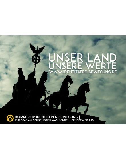 Aufkleber - Unser Land - Unsere Werte (100 Stk.)