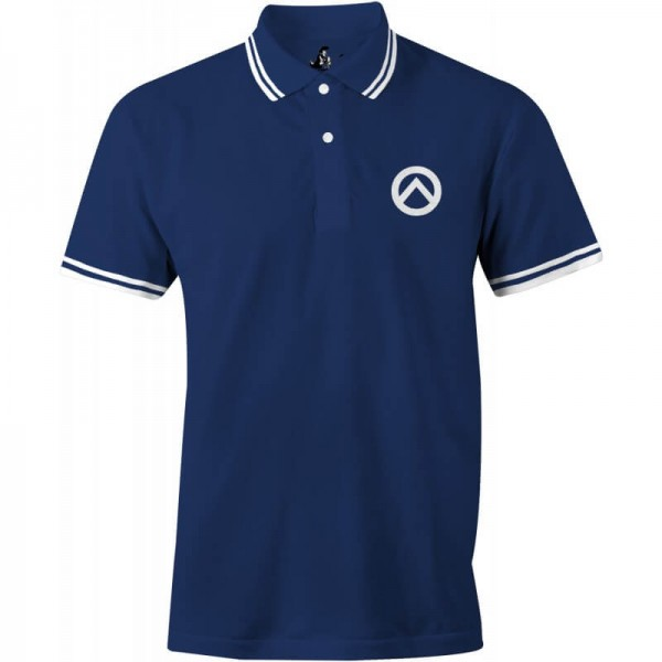Herrenpoloshirt: Lambda-navy