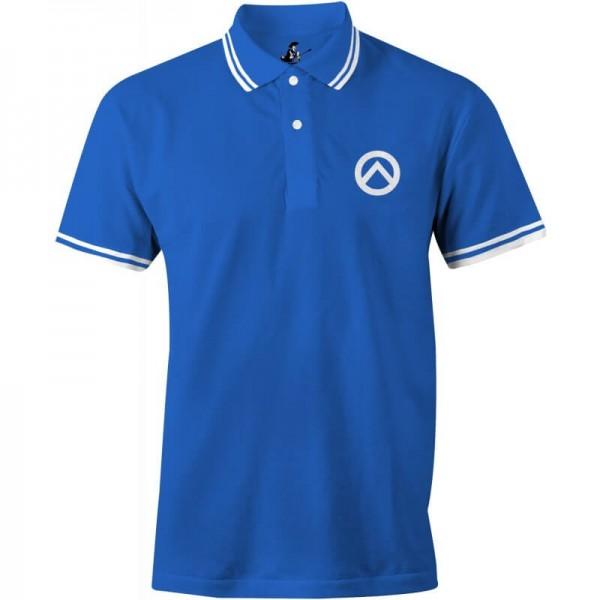 Poloshirt: Lambda-blau