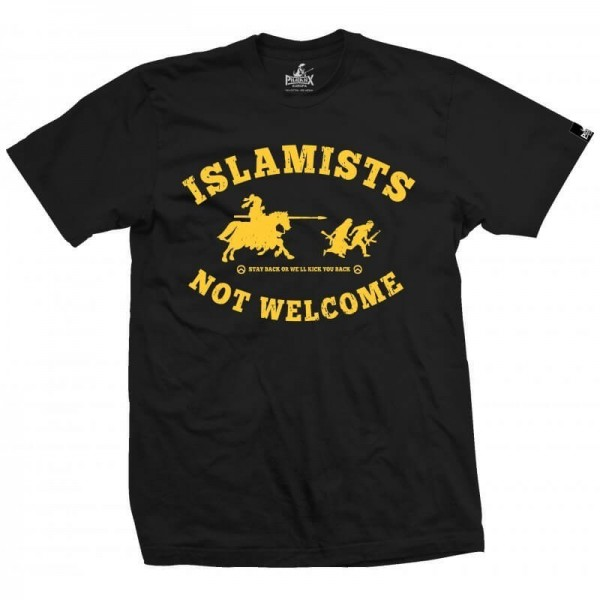 Herrenshirt: Islamists not welcome!