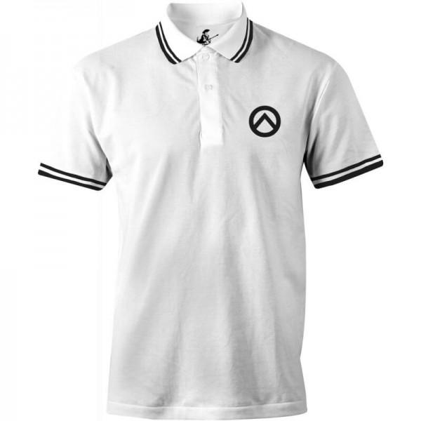 Poloshirt: Lambda-weiß