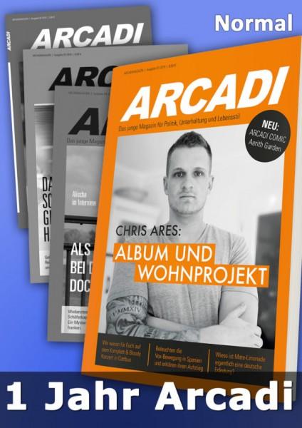 Arcadi Magazin Abo 1 Jahr