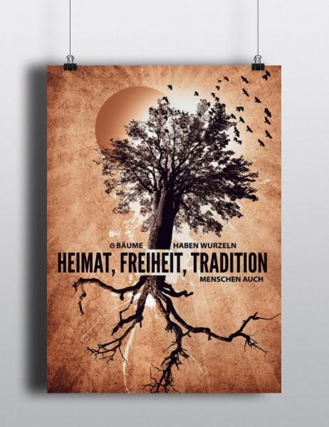 Poster: Heimat. Freiheit. Tradition.