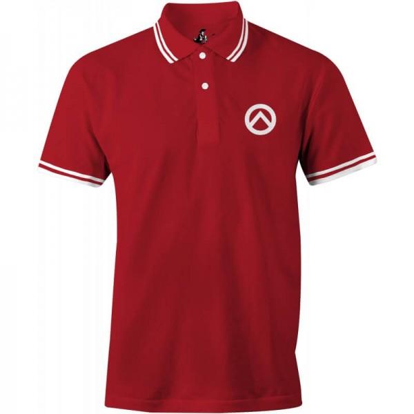 Herrenpoloshirt: Lambda-rot