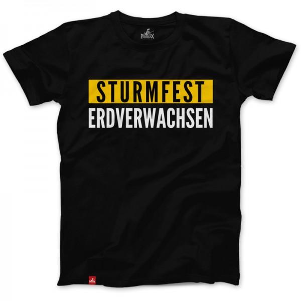 Herrenshirt: STURMFEST & ERDVERWACHSEN