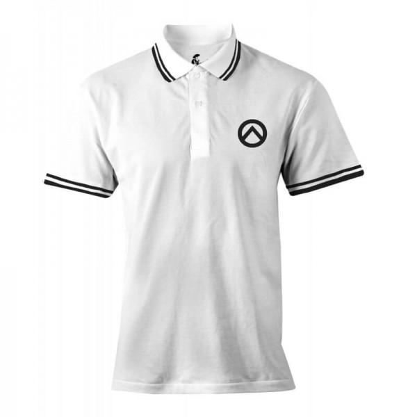 Damenpoloshirt: weiß