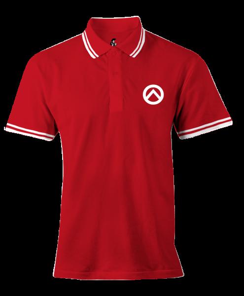 Damenpoloshirt: rot