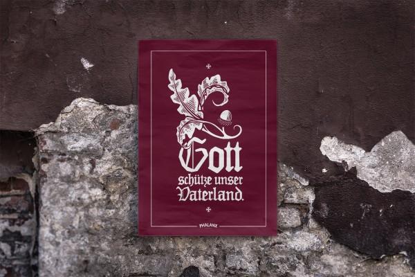 Poster: Gott schütze unser Vaterland