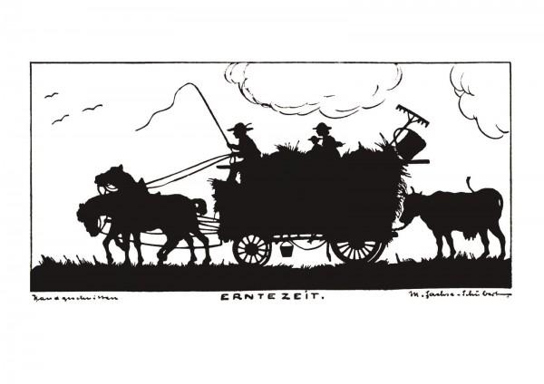 Postkarte: Erntezeit (Martha Sachse-Schubert)