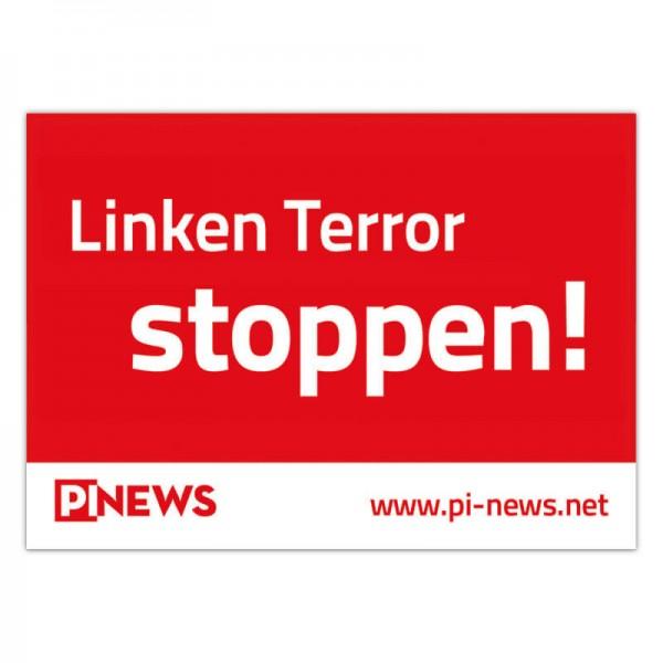 Aufkleber: Linken Terror stoppen!