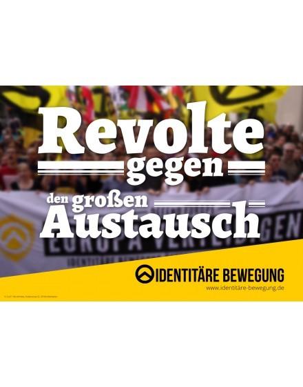 Aufkleber Revolte gegen den Großen Austausch (100 Stk.)