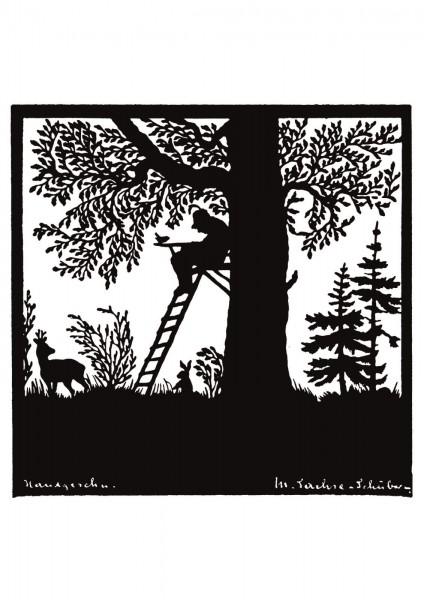 Postkarte: Jäger (Martha Sachse-Schubert)