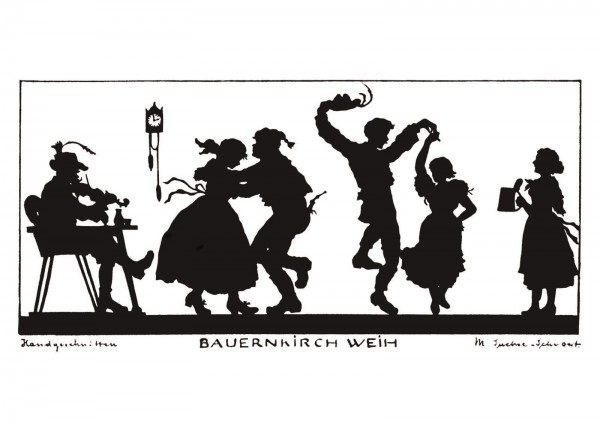 Postkarte: Bauernkirchweih (Martha Sachse-Schubert)