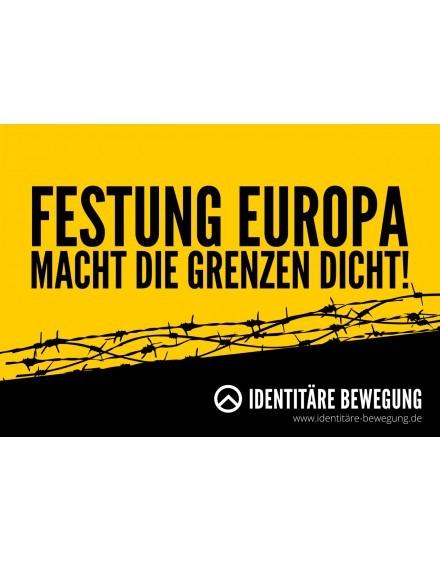 Aufkleber Festung Europa Macht die Grenzen dicht (100 Stk.)
