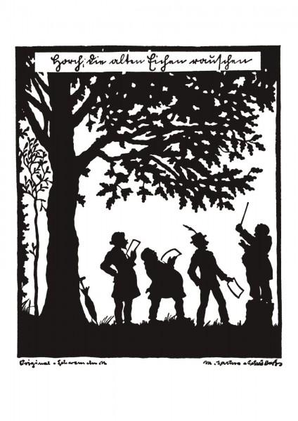 Postkarte: Eichen (Martha Sachse-Schubert)