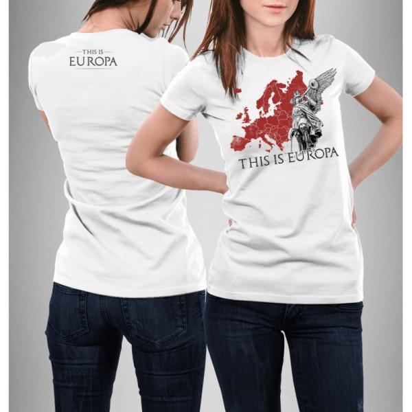 Damenshirt: This is europa weiß