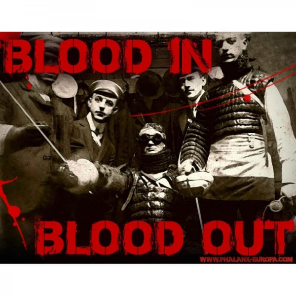 Aufkleber: Blood in Blood out