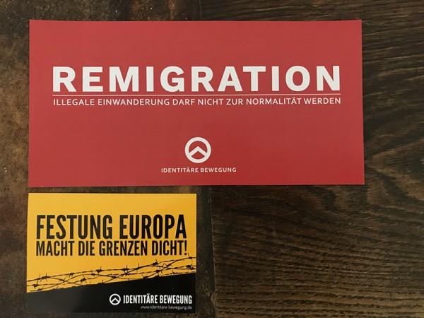 Aufkleber Remigration XL (rot)