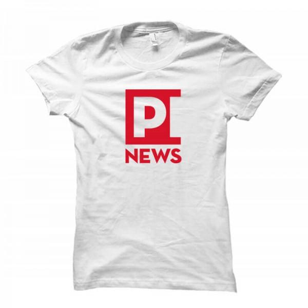 Damenshirt: PI News (weiß)