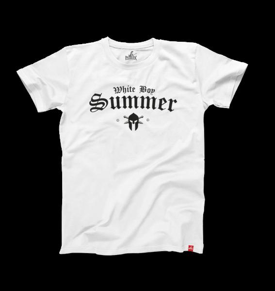Herrenshirt: White Boy Summer