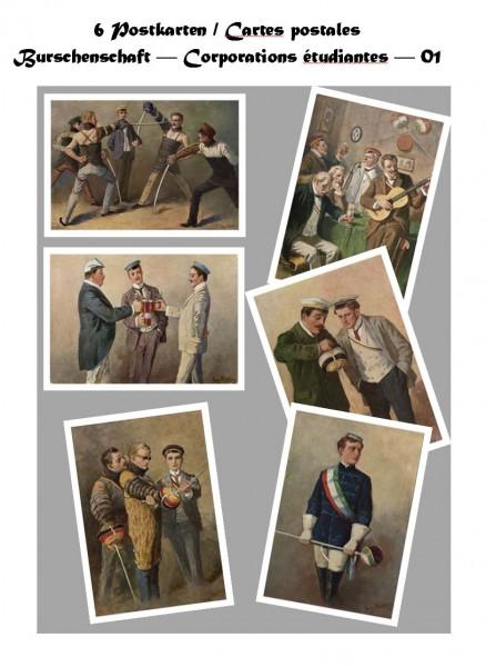 Postkartenset: Burschenschaft