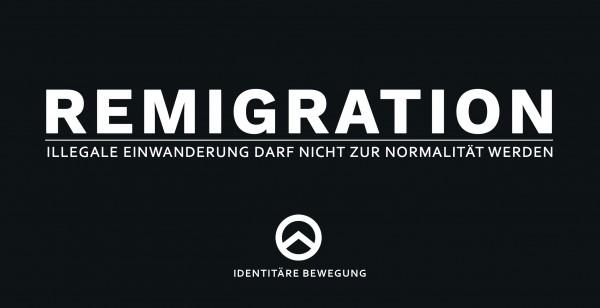 Aufkleber Remigration XL (schwarz)