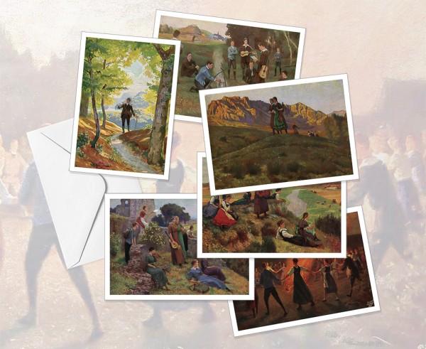 Postkartenset: Wandervogelbewegung (Robert Kämmerer)