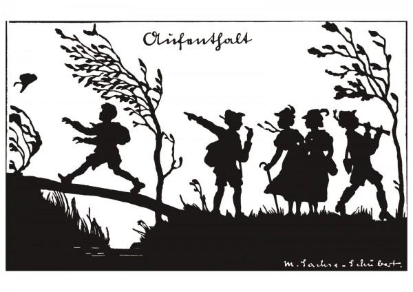 Postkarte: Aufenthalt (Martha Sachse-Schubert)