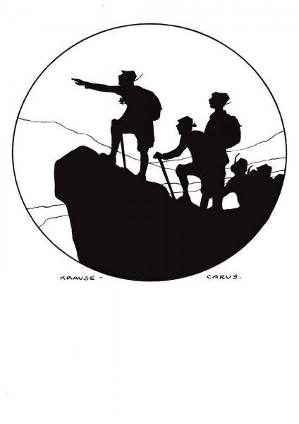 Postkarte: Bergsteigen (Krause Carus)