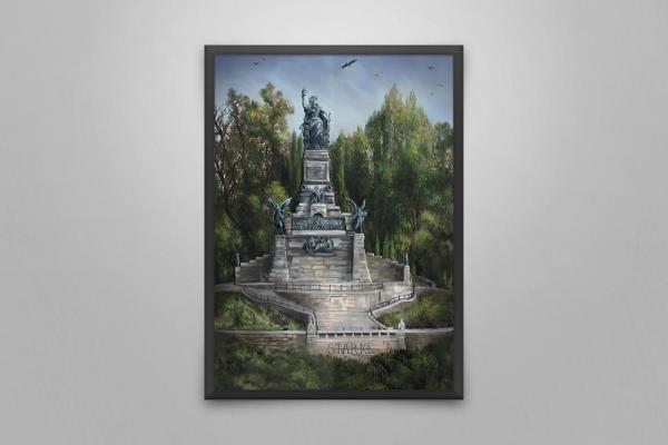 Wandbild Niederwalddenkmal