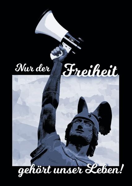 Aukleber: Nur der Freiheit gehört unser Leben (50 Stück)